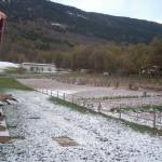 Paesaggio della Fattoria Antica Forconia in Abruzzo d'Inverno