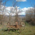 vecchio aratro della Fattoria Antica Forconia in Abruzzo