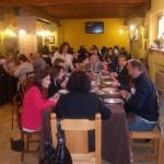 Immagina del banchetto per la prima comunione di Lorenzo alla fattoria antica forconina