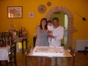 Festa per un battesimo a L'Aquila in Fattoria Antica Forconia