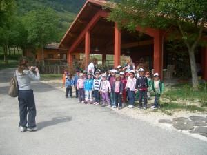 Foto di Gruppo di bambini in visita alla Fattoria Didattica Antica Forconia