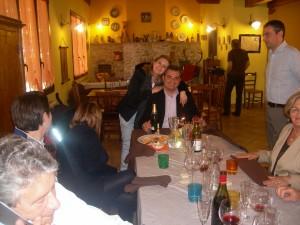 Ospiti a pranzo in Fattoria Antica Forconia Agriturismo a L'Aquila