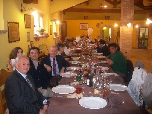 Foto del pranzo per la prima comunione all'agriturismo antica forconia dell'Aquila