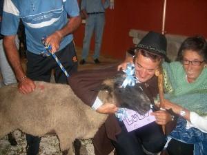 Ospiti e gli animali della Fattoria Antica Forconia a L'Aquila
