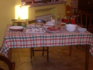 Buffet in Agriturismo Antica Forconia a L'Aquila Abruzzo