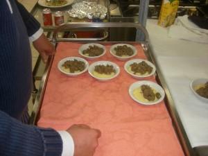 Coratella e Polenta piatto forte dell'Agriturismo Fattoria Antica Forconia Abruzzo