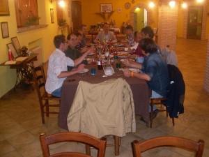 Cena con piatti tipici abruzzesi in Agriturismo Fattoria Antica Forconia