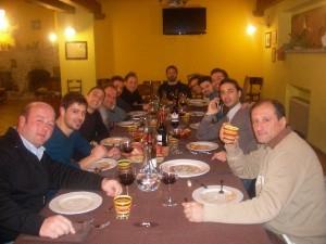 Ospiti di Pianola degustano la cucina tipica della Fattoria Antica Forconia L'Aquila
