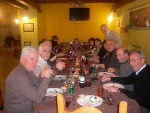 Cena di vecchi amici in Agriturismo L'Aquila Fattoria Antica Forconia