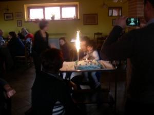 Festeggiamenti di Compleanno con la Cucina Tradizionale dell'agriturismo Antica Forconia