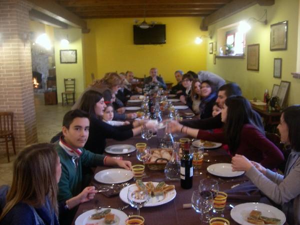 cena del paese Pianola In Agriturismoo Fattoria Antica Forconia