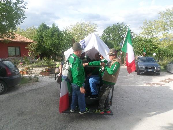 alpini durante il raduno in Agriturismo a L'Aquila