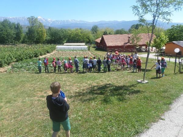 i bimbi e l'orto in Fattoria didattica in Abruzzo