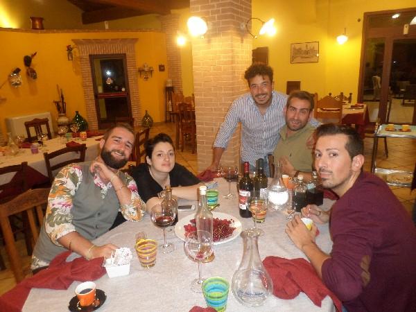 dott. fallocco e amici in agriturismo vicino L'Aquila